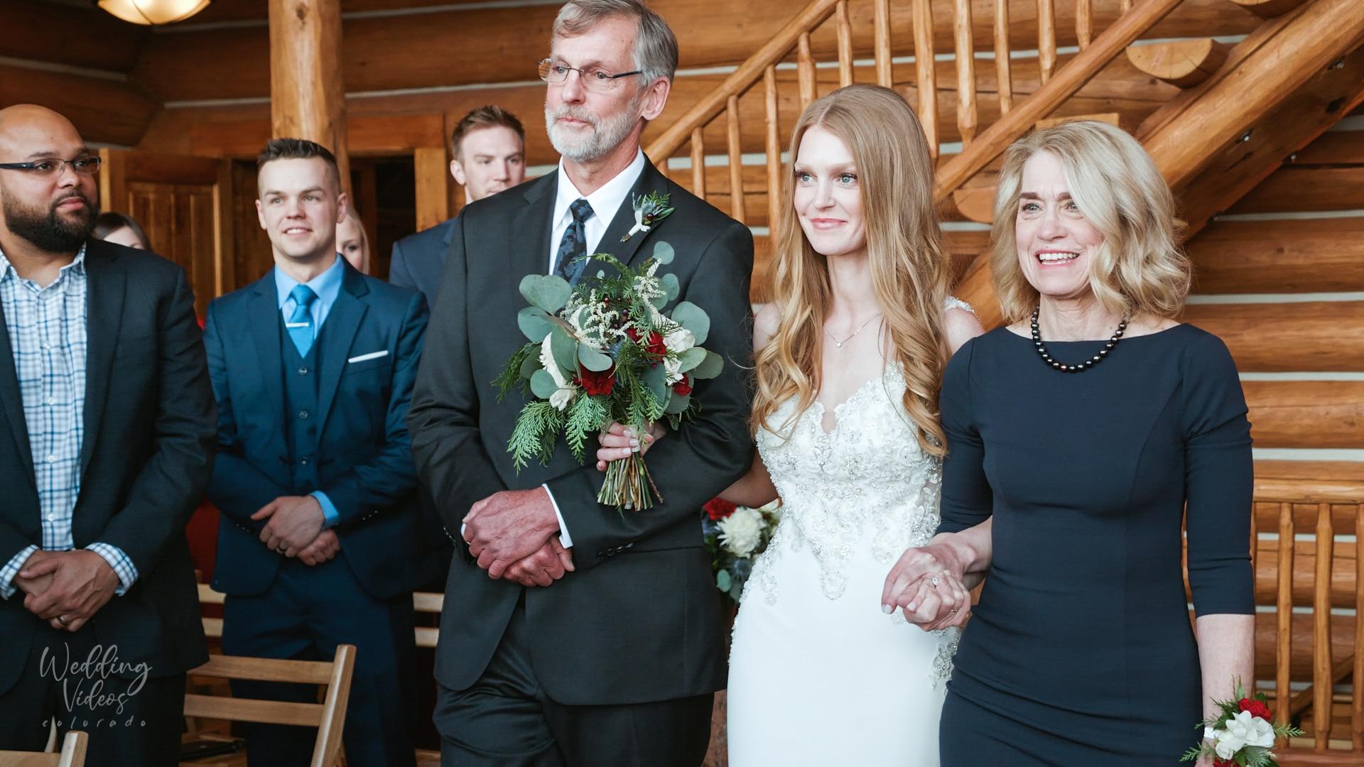 Matthew & Camille Grand Lake snow wedding video